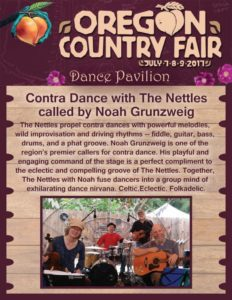 The Nettles & Noah Contra Dance @ Oregon Country Fair | Veneta | Oregon | United States