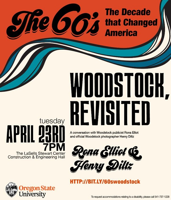 Woodstock Revisited - The '60s, the decade that changed America @ LaSells Stewart Center